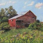 Barn, oil-linen, 15x20, 2014