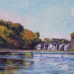 SOLD: Cohoes Falls, oil-linen, 15x30, 2015