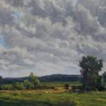 Coxsackie Flats, oil-linen, 19x30, 2014