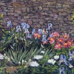 Garden and Wall at Olana, oil-linen, 22x28, 2015