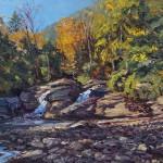 Naobi Falls, oil-linen, 18x24, 2013