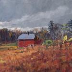 Olana's Barn, oil-linen, 18x24, 2014