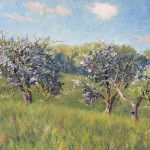 SOLD: Old Apple Trees at Olana, oil-linen, 22x28, 2015