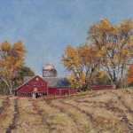 Carla's Barns, oil-linen, 18x24, 2015