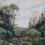 Vosburgh's Swamp, oil-linen, 18x24, 2014