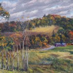 View From Crown Hill,Olana, oil-linen, 18x24, 2014